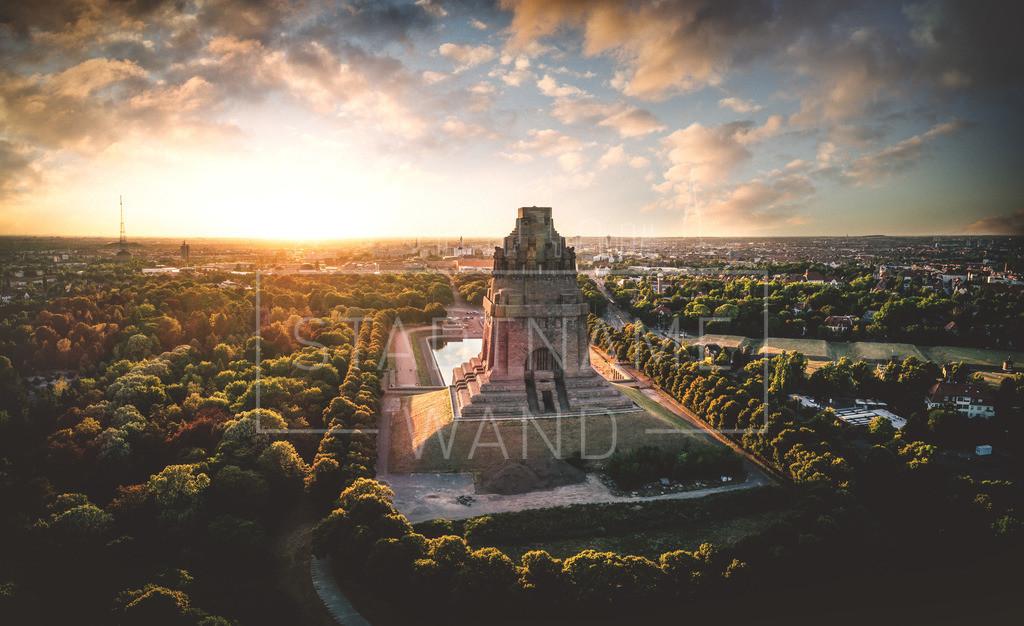 Völkerschlachtdenkmal Leipzig Luftbild | Das Völkerschlachtdenkmal zu Leipzig aus der Luft