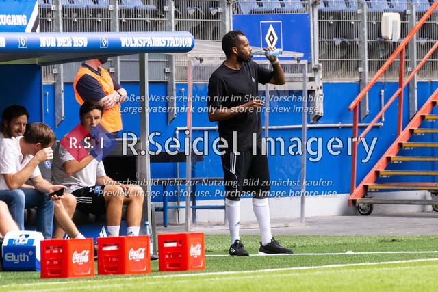Fußball, Herren, Testspiel, Hamburger SV - FC Hansa Rostock, Volksparkstadion, 09.08.2020 | Daniel Thioune (HSV Cheftrainer)