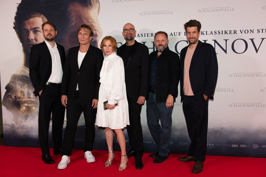 Premiere: Schachnovelle   Philipp Worm, Oliver Masucci, Birgit Minichmayr, Produzent Philipp Stölzl, Samuel Finzi, Moritz von Treuenfels