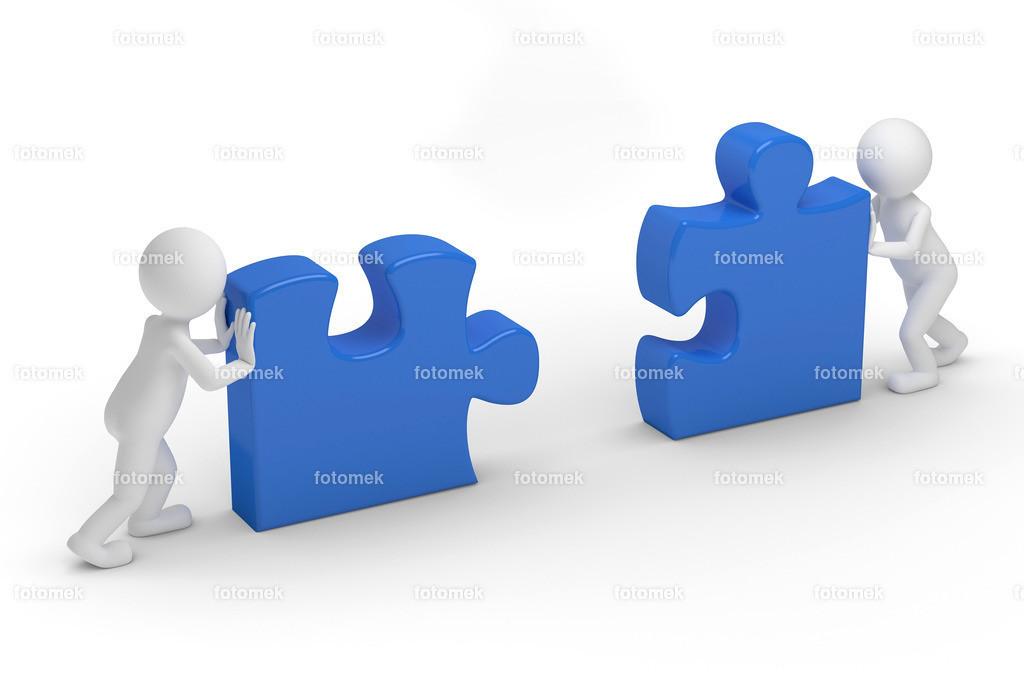 puzzle_teamwork Kopie | weisse 3D Männchen von Fotomek