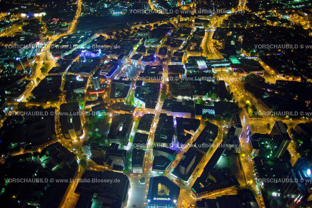 ES10052681 | Berliner Platz , Limbecker Platz Karstadt bei Nacht,  Essen, Ruhrgebiet, Nordrhein-Westfalen, Germany, Europa, Foto: hans@blossey.eu, 14.05.2010