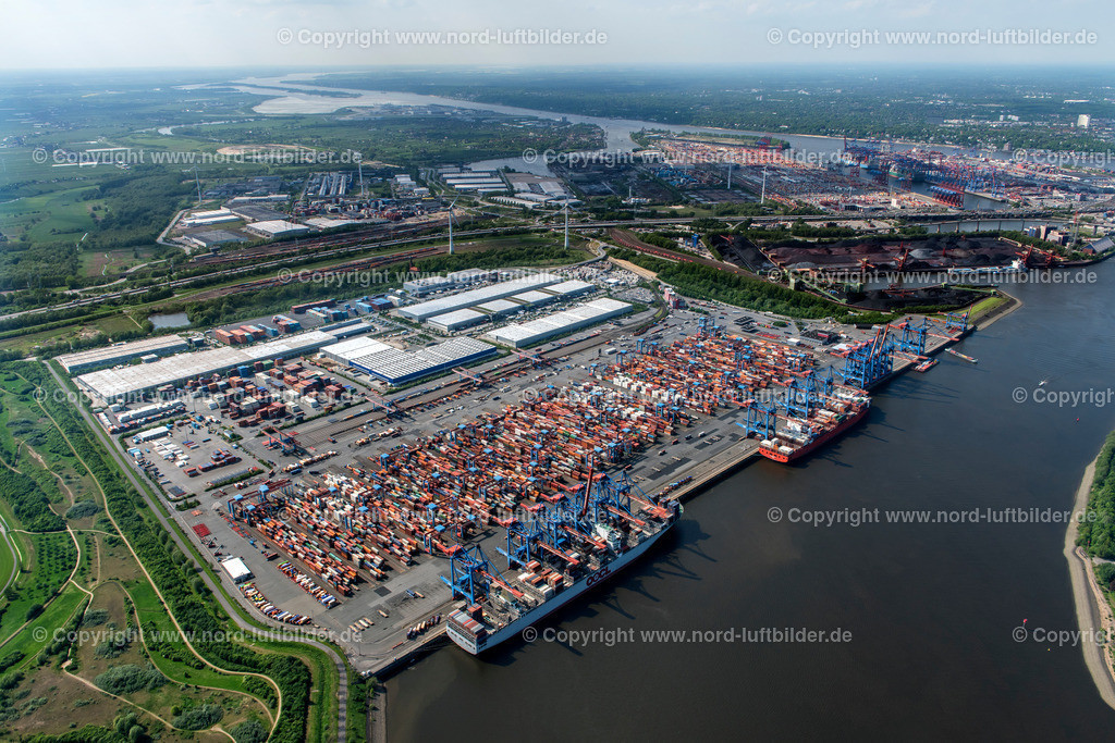 Hamburg Altenwerder CTA_HHLA_ELS_6977170517 | Hamburg - Aufnahmedatum: 17.05.2017, Aufnahmehöhe: 562 m, Koordinaten: N53°29.690' - E9°56.880', Bildgröße: 7360 x  4912 Pixel - Copyright 2017 by Martin Elsen, Kontakt: Tel.: +49 157 74581206, E-Mail: info@schoenes-foto.de  Schlagwörter:Hamburg,Luftbild, Luftbilder, Deutschland