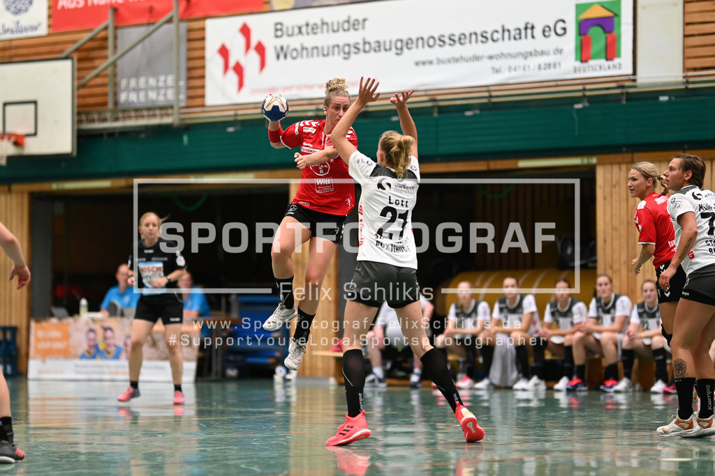FZ6_0544 | ; Handball I Testspiel I Buxtehuder SV - TSV Bayer 04 Leverkusen am 01.08.2020 in Buxtehude  (Halle Nord), Deutschland