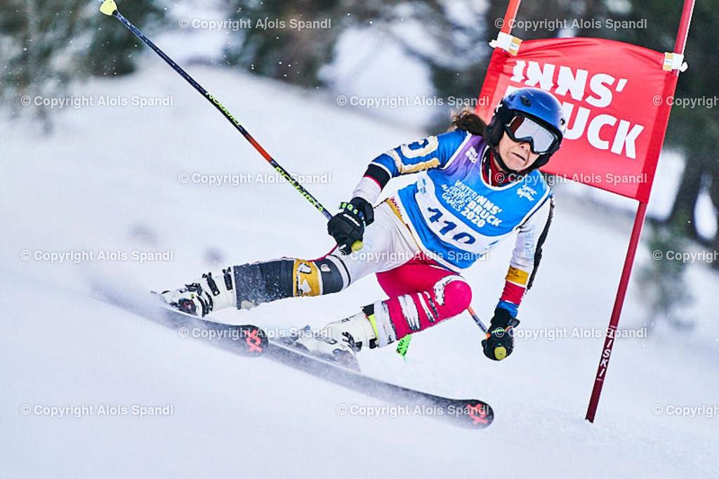 ALS5734_WWMG_GS-II_C | (C) FotoLois.com, Alois Spandl, WinterWorldMastersGames 2020 Innsbruck, Giant Slalom-II Gruppe C Damen, Patscherkofel Olympiaabfahrt, Mi 15. Jänner 2020.