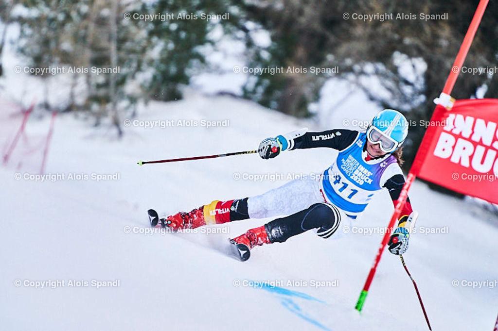 ALS5739_WWMG_GS-II_C   (C) FotoLois.com, Alois Spandl, WinterWorldMastersGames 2020 Innsbruck, Giant Slalom-II Gruppe C Damen, Patscherkofel Olympiaabfahrt, Mi 15. Jänner 2020.