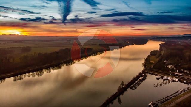 Abends über Au an der Donau