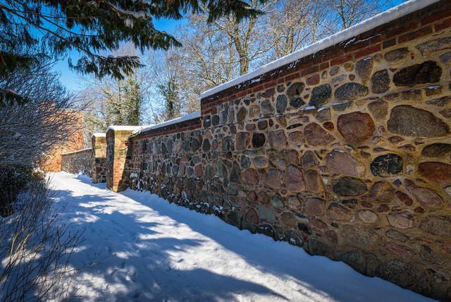 Winter an der Stadtmauer | Ansicht aus Prenzlau