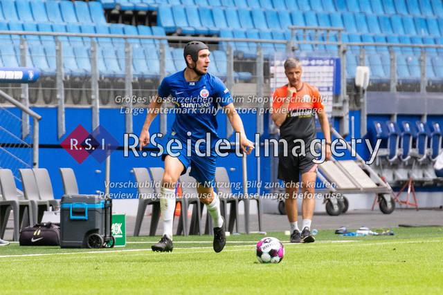 Fußball, Herren, Testspiel, Hamburger SV - FC Hansa Rostock, Volksparkstadion, 09.08.2020   Damian Roßbach (#4 Hansa Rostock)
