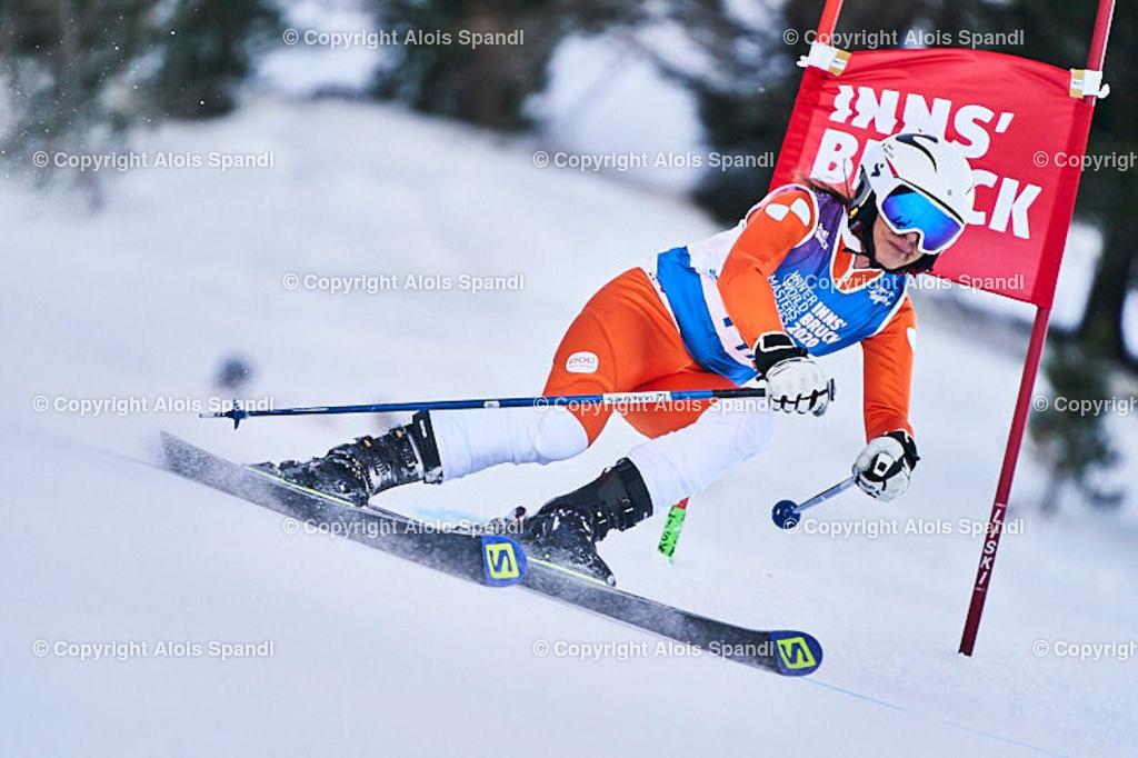 ALS5913_WWMG_GS-II_C | (C) FotoLois.com, Alois Spandl, WinterWorldMastersGames 2020 Innsbruck, Giant Slalom-II Gruppe C Damen, Patscherkofel Olympiaabfahrt, Mi 15. Jänner 2020.