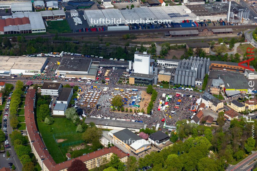 kulmbach-18-76 | aktuelles Luftbild von  Kulmbach - Luftaufnahme wurde 2018 von https://frankenair.de mittels Flugzeug (keine Drohne) erstellt.