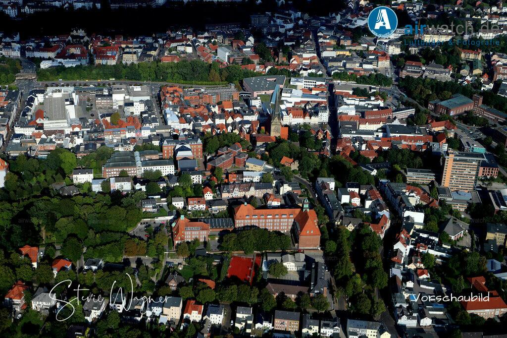 Luftbild Flensburg, Suedergraben, Landgericht, Auguste-Viktoria-Schule | Flensburg, Suedergraben • max. 6240 x 4160 pix