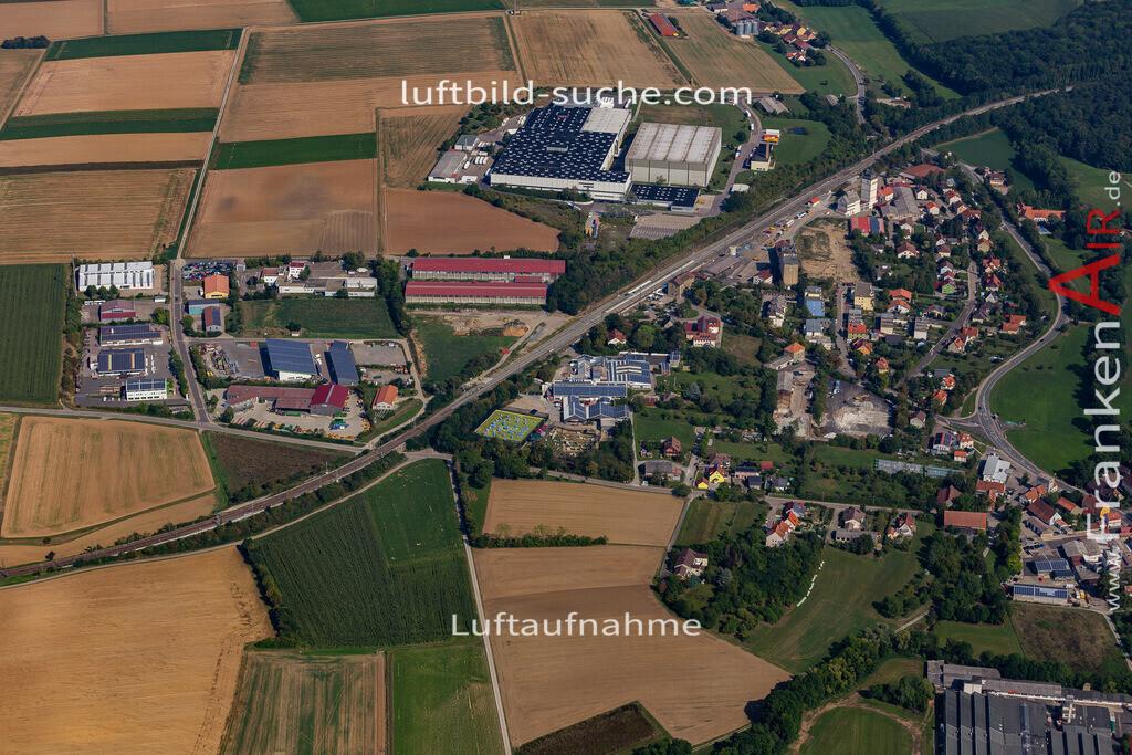 uffenheim-19-747   aktuelles Luftbild von  Uffenheim - Luftaufnahme wurde 2019 von https://frankenair.de mittels Flugzeug (keine Drohne) erstellt.
