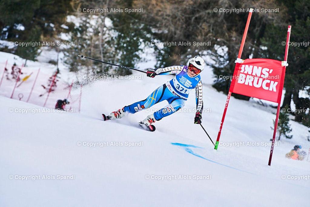 ALS5502_WWMG_GS-II_C   (C) FotoLois.com, Alois Spandl, WinterWorldMastersGames 2020 Innsbruck, Giant Slalom-II Gruppe C Damen, Patscherkofel Olympiaabfahrt, Mi 15. Jänner 2020.