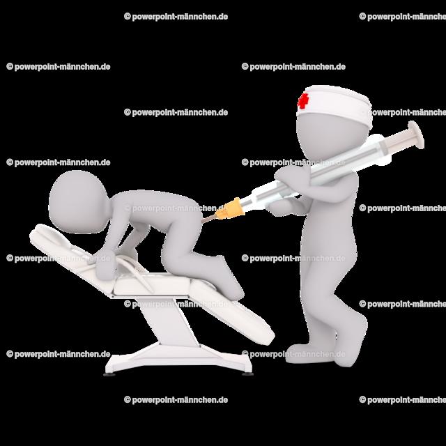 the doctor gives the patient an injection in the butt | Quelle: https://3dman.eu   Jetzt 250 Bilder kostenlos sichern