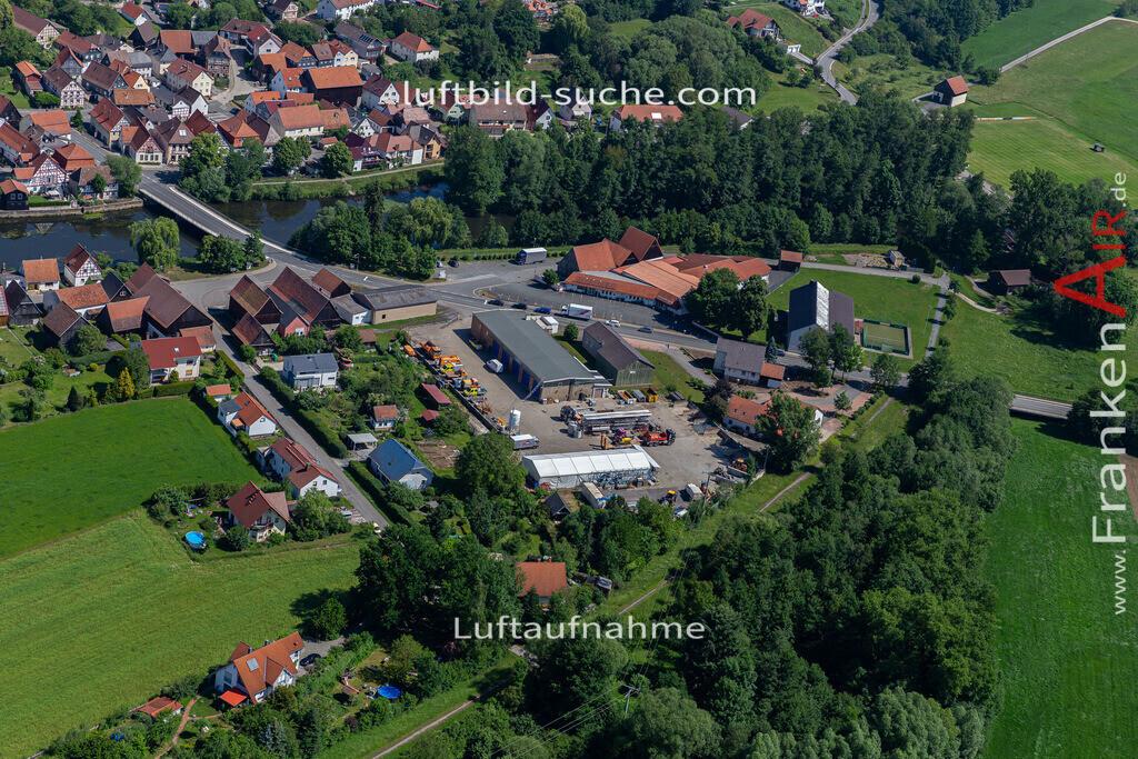 marktzeuln-2020-238 | Aktuelles Luftbild von  Marktzeuln - Die Luftaufnahme wurde 2020 mittels UL-Flugzeug erstellt ( keine Drohne ) - hochauflösende Kamera-Systeme von  Canon - Beste Qualität - Für grossformatige Ausdrucke geeignet. Die Geschenkidee !