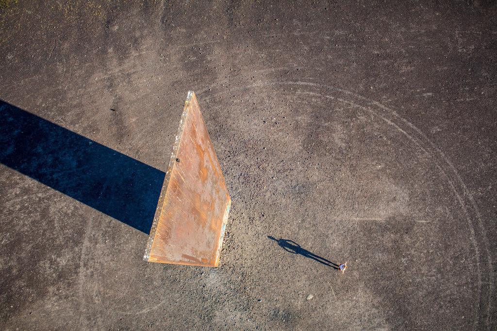 JT-130906-010 | Schurenbachhalde, Kunstwerk des britischen Kuenstlers Richard Serra,