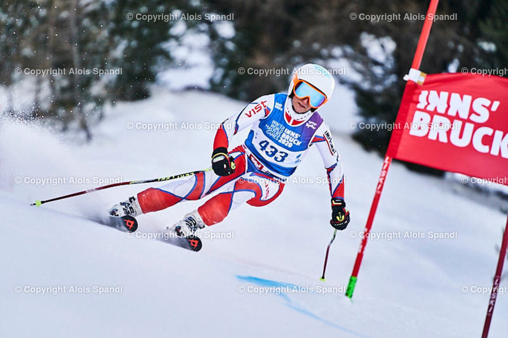 ALS5835_WWMG_GS-II_C | (C) FotoLois.com, Alois Spandl, WinterWorldMastersGames 2020 Innsbruck, Giant Slalom-II Gruppe C Damen, Patscherkofel Olympiaabfahrt, Mi 15. Jänner 2020.