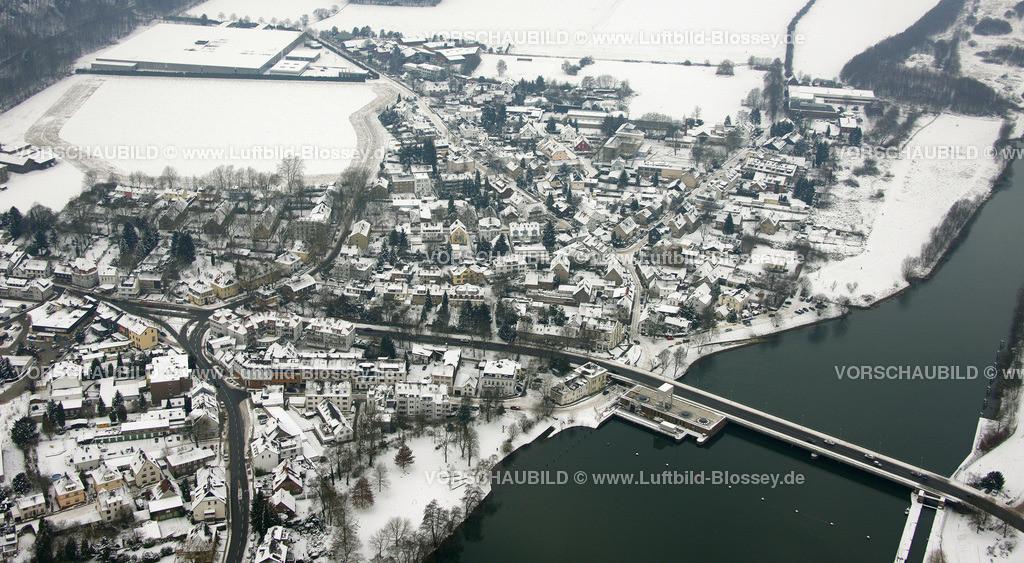 KT10011136   Schnee,  Kettwig, Essen, Ruhrgebiet, Nordrhein-Westfalen, Deutschland, Europa, Foto: Luftbild Hans Blossey, Copyright: hans@blossey.eu, 06.01.2010, E 006° 56' 30.53