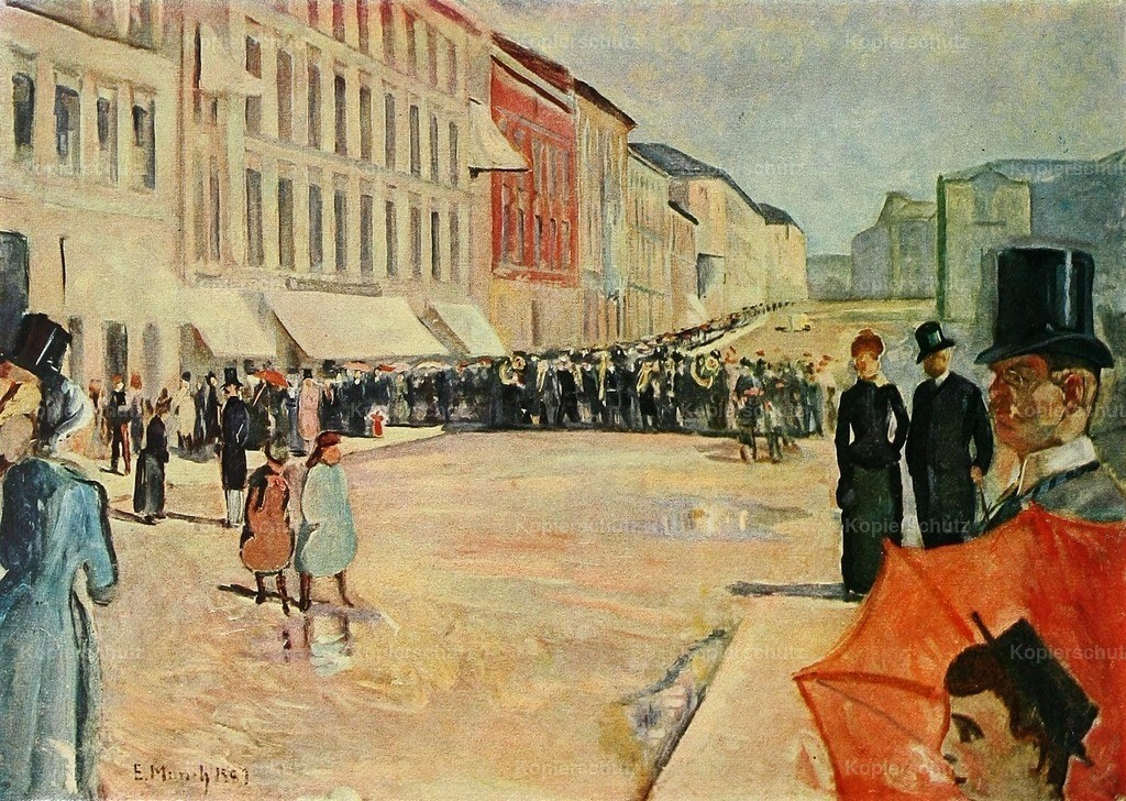 Munch_ Edvard (1863-1944) - Military Band in Oslo 1889