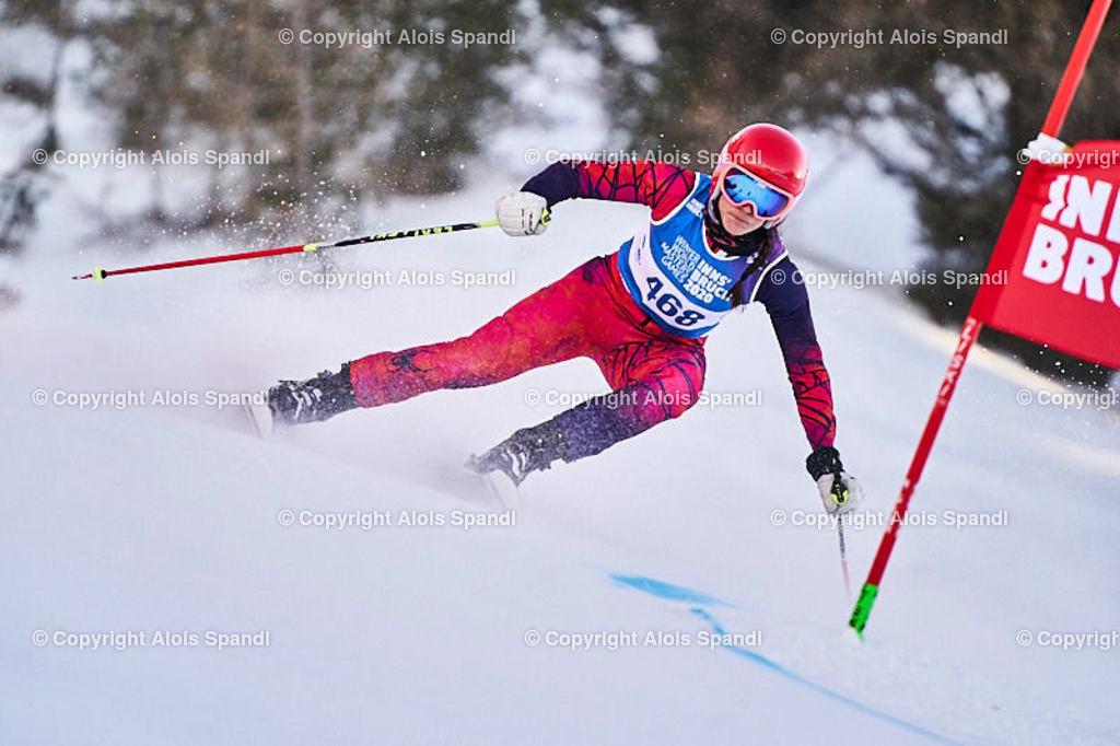 ALS6019_WWMG_GS-II_C | (C) FotoLois.com, Alois Spandl, WinterWorldMastersGames 2020 Innsbruck, Giant Slalom-II Gruppe C Damen, Patscherkofel Olympiaabfahrt, Mi 15. Jänner 2020.