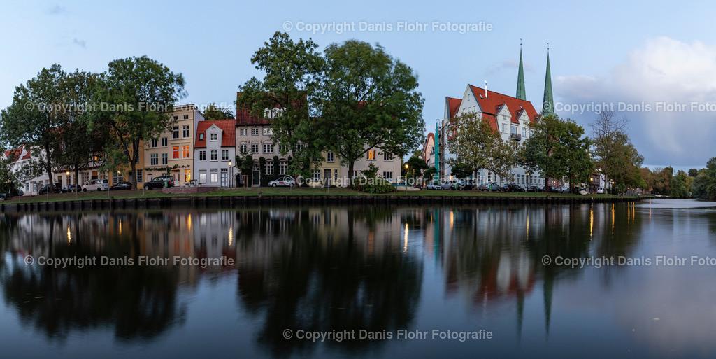 Malerwinkel Panorama | Ein Panorama des Lübecker Malerwinkels.