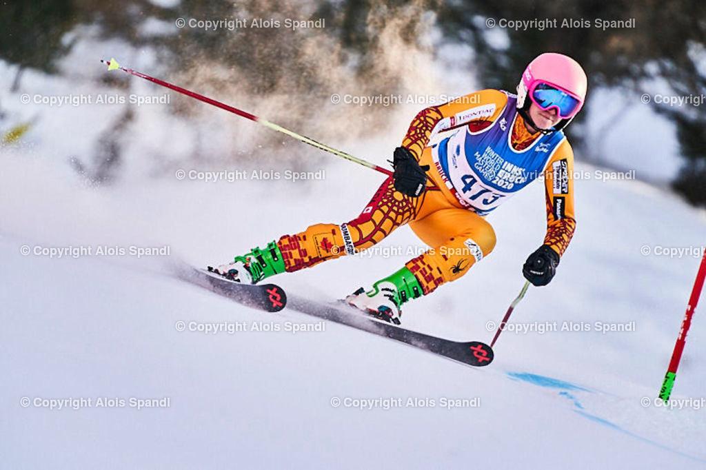 ALS6054_WWMG_GS-II_C | (C) FotoLois.com, Alois Spandl, WinterWorldMastersGames 2020 Innsbruck, Giant Slalom-II Gruppe C Damen, Patscherkofel Olympiaabfahrt, Mi 15. Jänner 2020.