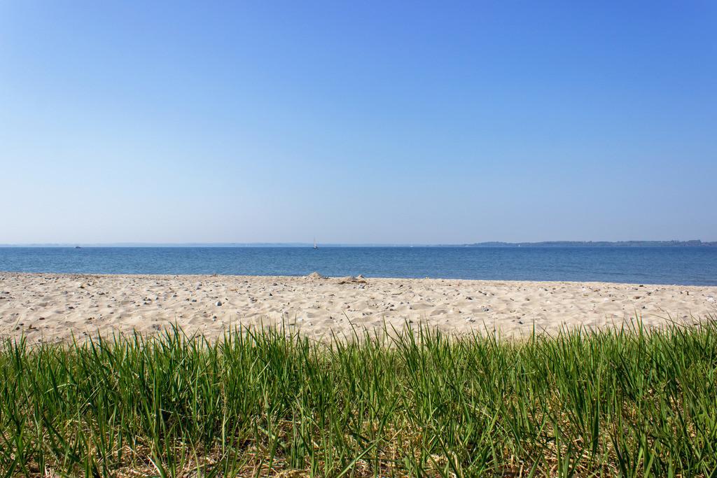 Strand in Langballigau | Sandstrand in Langballigau im Frühling