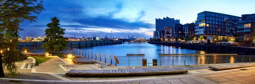 11493338 - Grasbrookhafen zur blauen Stunde