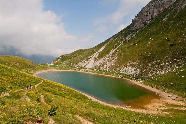 Blick vom Passo Branchino auf den Lago Branchino | Wanderung zum Lago Branchino und Passo Branchino
