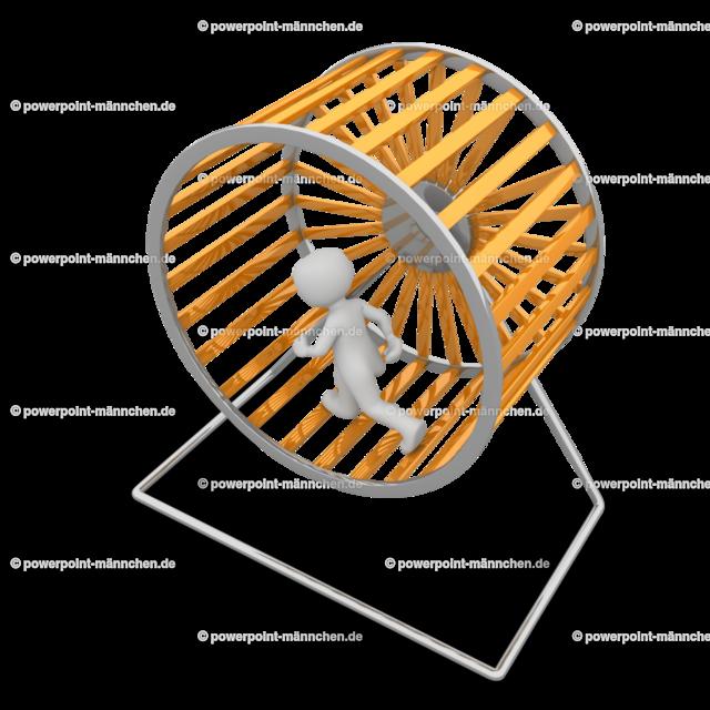 running in a hamster wheel of life | Quelle: https://3dman.eu   Jetzt 250 Bilder kostenlos sichern
