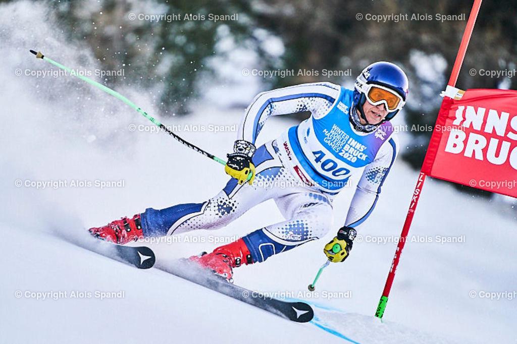ALS5689_WWMG_GS-II_C | (C) FotoLois.com, Alois Spandl, WinterWorldMastersGames 2020 Innsbruck, Giant Slalom-II Gruppe C Damen, Patscherkofel Olympiaabfahrt, Mi 15. Jänner 2020.