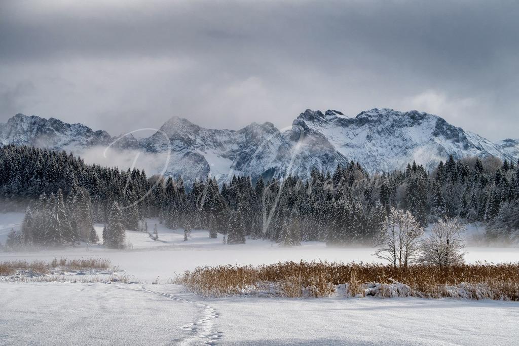 Winter am Geroldsee | Der Geroldsee in schönster winterlicher Kulisse