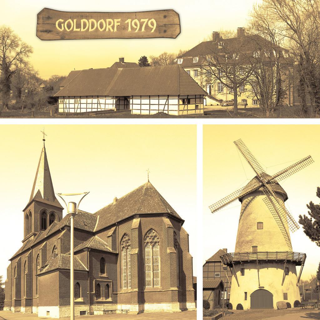 Golddorf 1979 Westkirchen, Ennigerloh | Sehenswürdigkeiten Schloss, Mühle und Kirche von Westkirchen im Münsterland