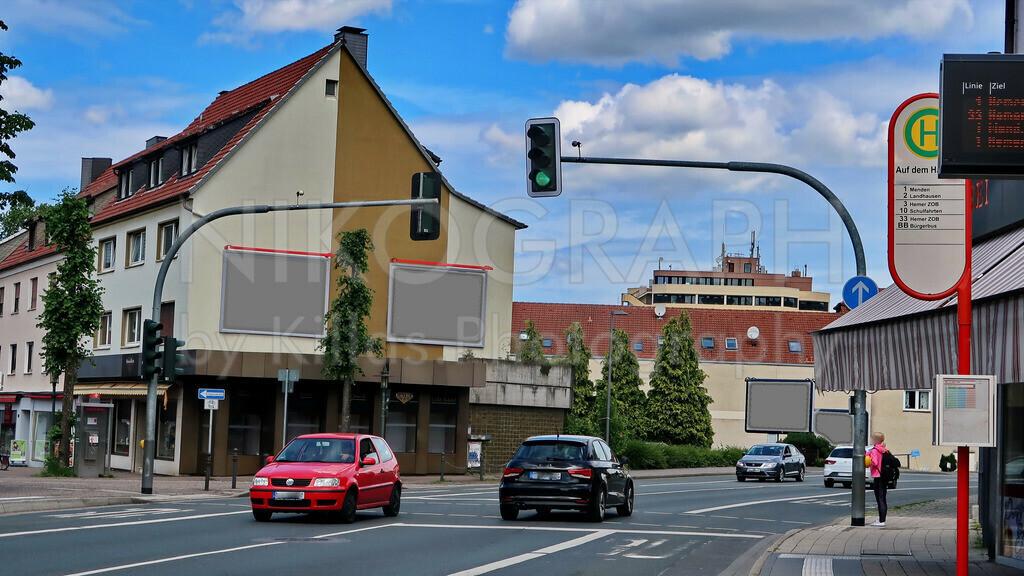 Hemeraner Straßensicht   Eine Fußgängerampel im Zentrum der Felsenmeerstadt Hemer.