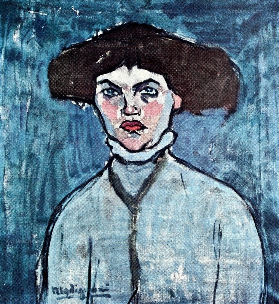 Modigliani_ Amedeo (1884-1920) - Young Girl with Hat 1908-9