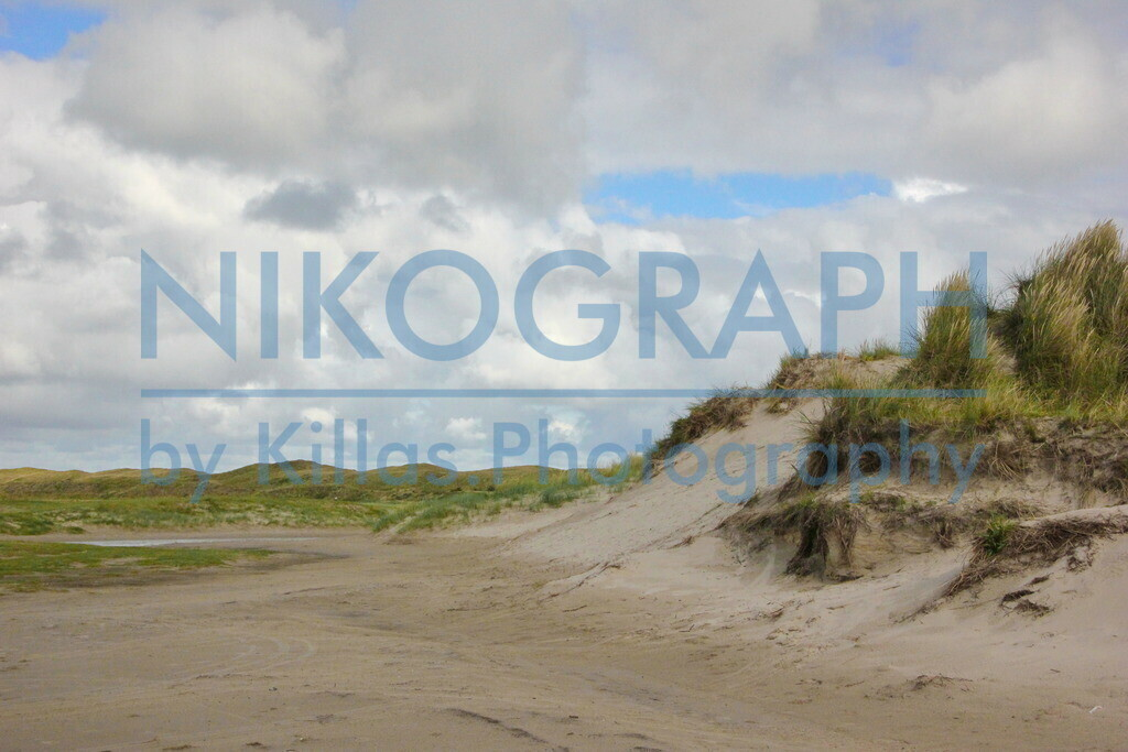 Dünen von Texel | Die Dünen unter dem Wolkenhimmel von Texel.