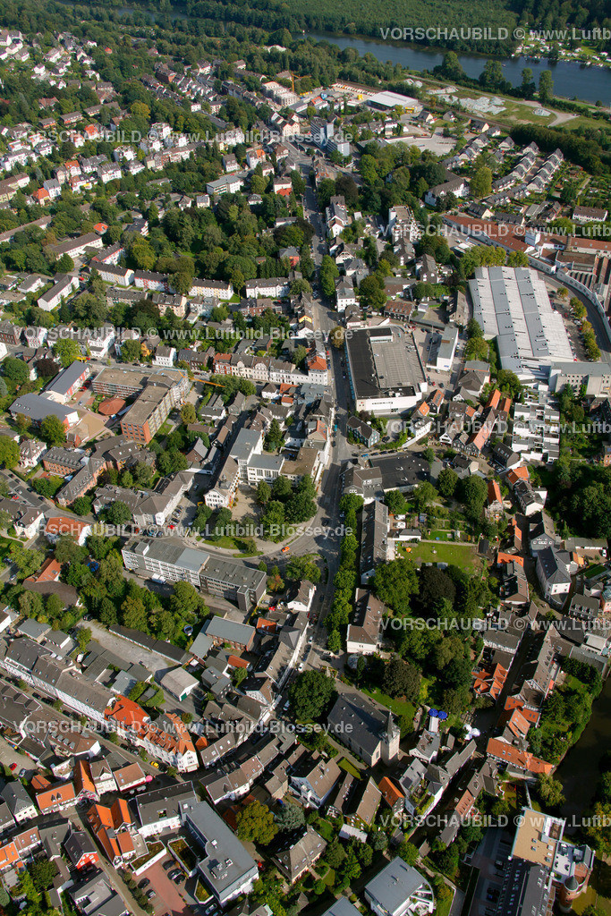 KT10094273 | Steinweg, Kettwig, Ruhr, Luftbild,  Essen, Ruhrgebiet, Nordrhein-Westfalen, Germany, Europa, Foto: hans@blossey.eu, 05.09.2010