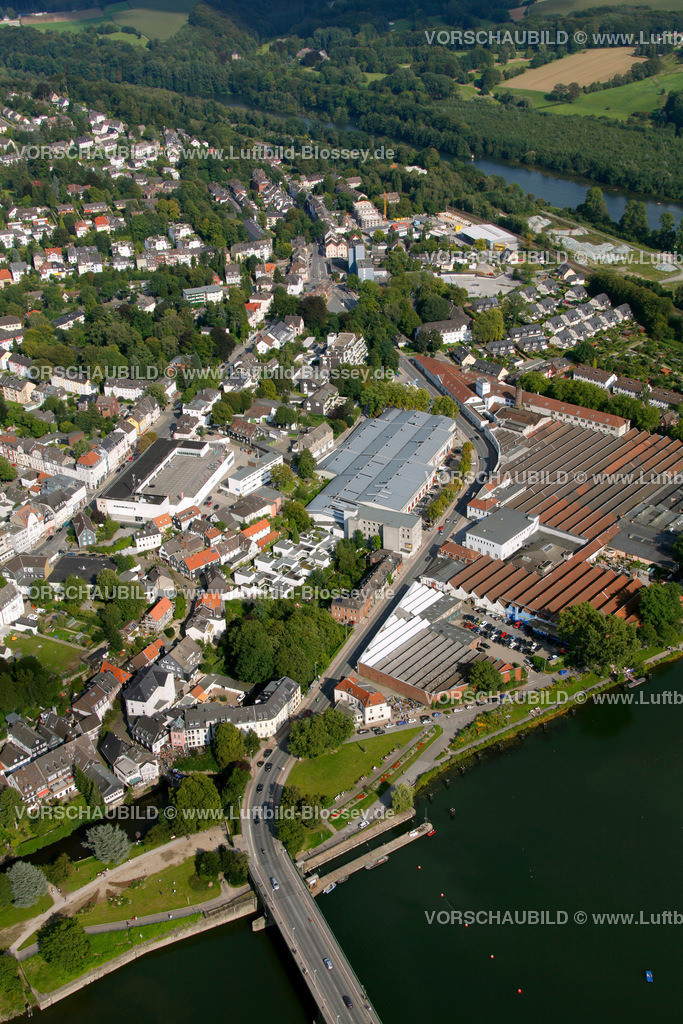 KT10094259 | Ringstrasse, Kettwig, Ruhr, Luftbild,  Essen, Ruhrgebiet, Nordrhein-Westfalen, Germany, Europa, Foto: hans@blossey.eu, 05.09.2010