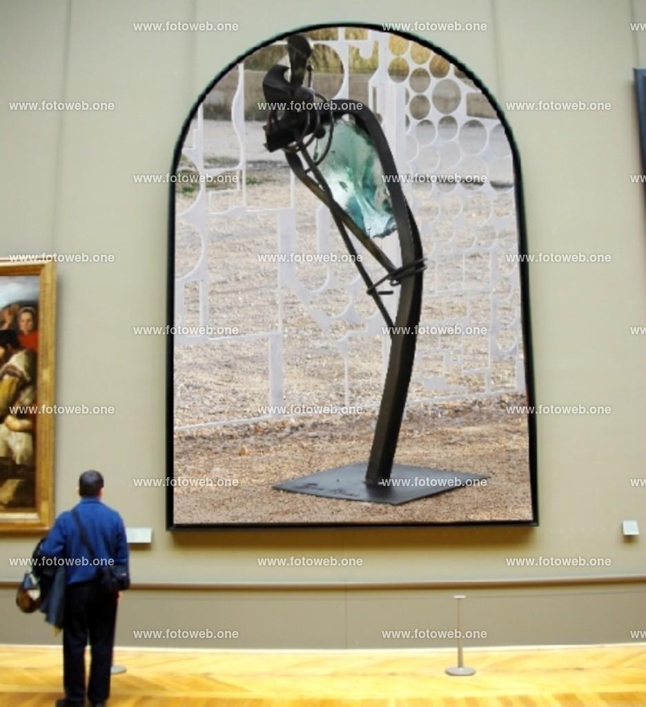 IMG_1622_Kunst_A | Was ist oder darf als Kunst genannt werden. Wenn man diese Metallarbeit sieht, ist ja jede Umweltkatastrophe, wie Erdbeben oder der gleichen eine einzige Kunstausstellung.