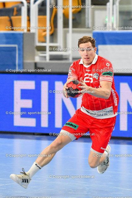 AUT, HLA, HC Linz AG vs Schwaz Handball Tirol | 09.10.2021, Sporthauptschule Linz-Kleinmuenchen, AUT, HLA, HC Linz AG vs  Schwaz Handball Tirol, im Bild Lucijan Fizuleto (Linz)