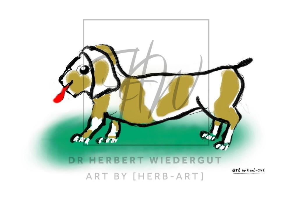 dog   digitale Zeichnung von Dr. Herbert Wiedergut