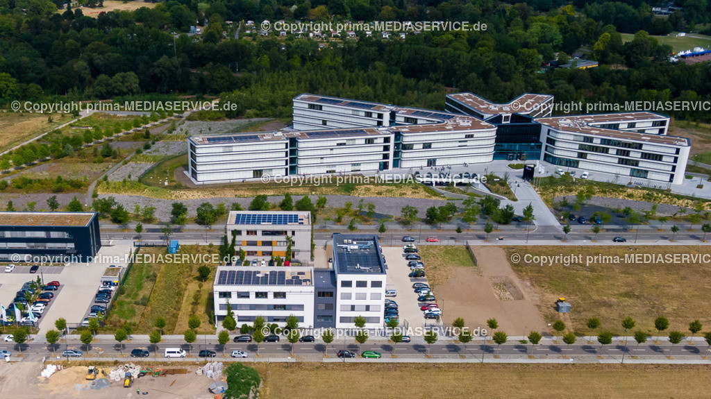 20190805-Luftbilder Phoenix West | 05.08.2019 in Dortmund (North Rhine-Westphalia, Germany) Das Gebäude der SMF GmbH & Co. KG im Dortmunder Technologiepark Phoenix-West an der Paul-Henri-Spaak-Straße.  Foto: Michael Printz / PHOTOZEPPELIN.COM