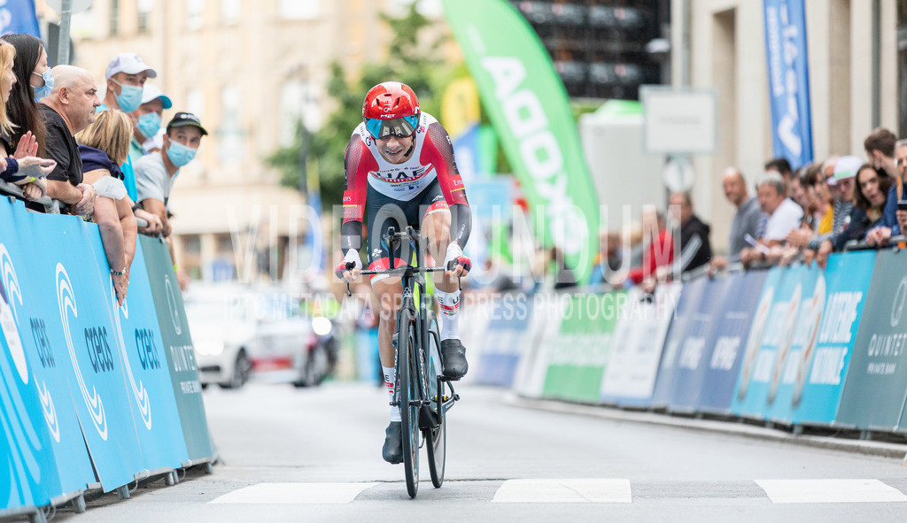 81st Skoda-Tour de Luxembourg 2021   81st Skoda-Tour de Luxembourg 2021, Stage 4 ITT Dudelange - Dudelange; Dudelange, 17.09.2021: FORMOLO Davide (UAE-Team Emirates, 4)