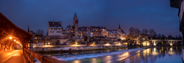 Nachpanorama   Bremgarten im Kanton Aargau, Schweiz