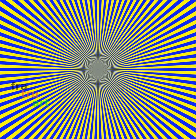 Kleeblatt blau gelb