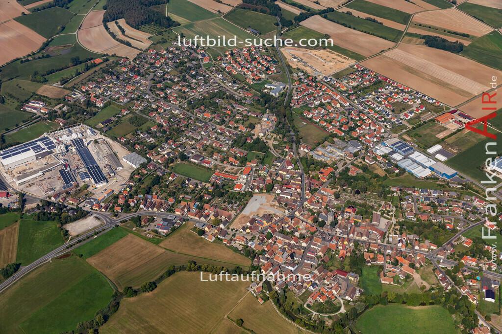 uehlfeld-19-573   aktuelles Luftbild von Uehlfeld   - Luftaufnahme wurde 2019 von https://frankenair.de mittels Flugzeug (keine Drohne) erstellt.