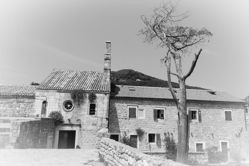 Budva Zitadelle in s/w
