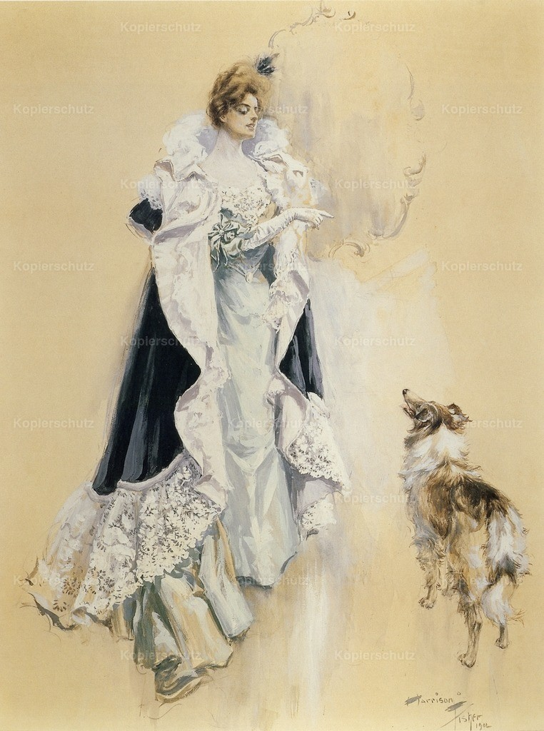 Fisher_ Harrison (1875-1934) - Final Instructions 1902 - Woman with dog