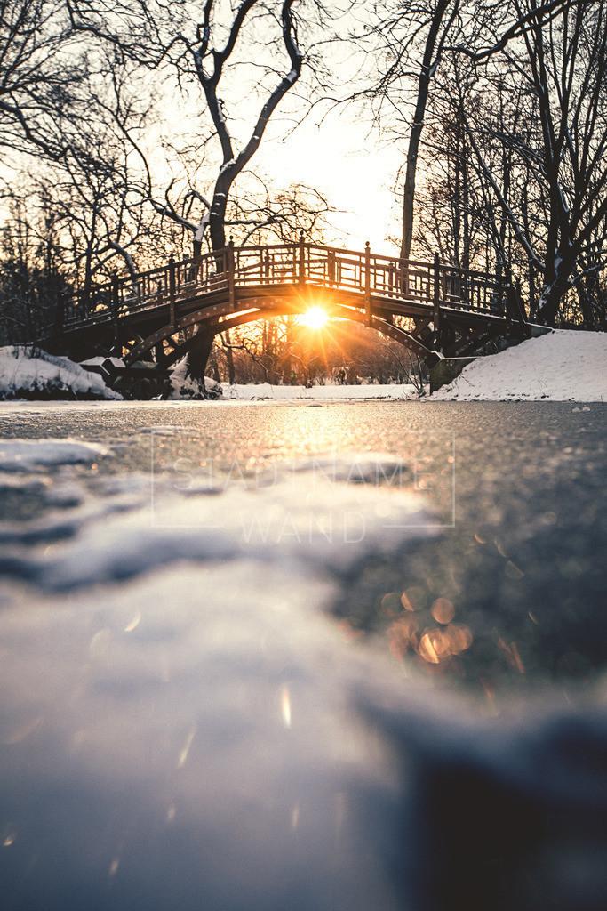 Clarapark Brücke Wintertraum