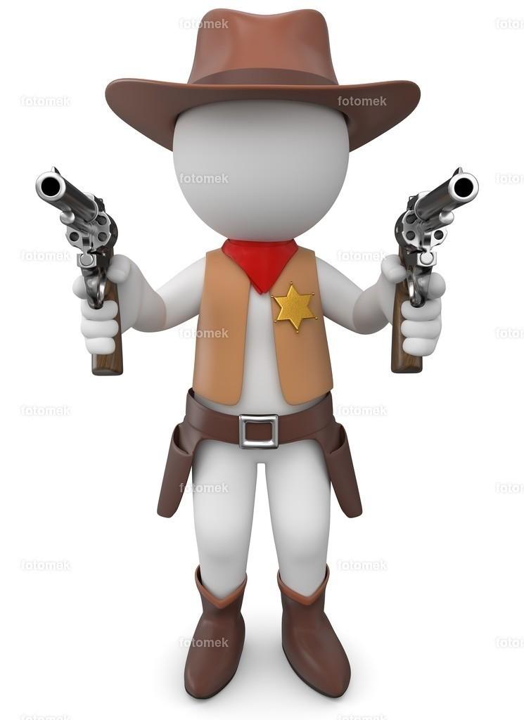 3d Männchen Sheriff